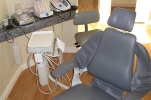dentist chair and equipment detail